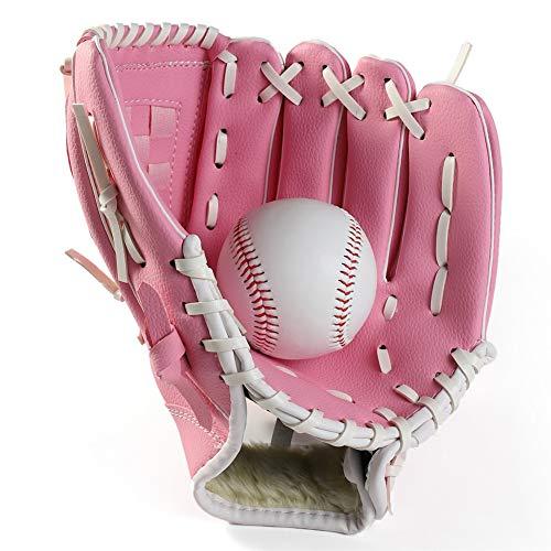 QETY Baseball-Handschuh, Ball-Softball-Handschuhe Für Kinder Für Erwachsene Optimum Extreme Baseball Handschuhe,Pink,S