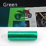 Zantec 120x 30cm glänzend Chameleon Auto-Styling, Rücklichter Abdeckfolie Farbe ändern. grün