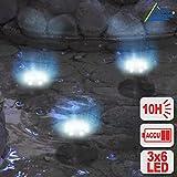 PANEL SOLAR PARA BOMBA DE AGUA BOMBA PARA ESTANQUE DE JARDIN bomba de agua-juego de agua con panel LED SOLAR KIT REFLECTOR CON BATERIA Ni-MH
