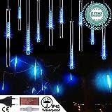 Wasserdichte 30cm 10 Tube 360 LED Meteorschauer Regen Lichter 12V LED Weihnachten Deko-Leuchten Lichterkette für Außen Garten Weihnachten Dekoration Decoration - Blau