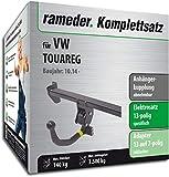 Rameder Komplettsatz, Anhängerkupplung abnehmbar + 13pol Elektrik für VW Touareg (131572-08607-1)
