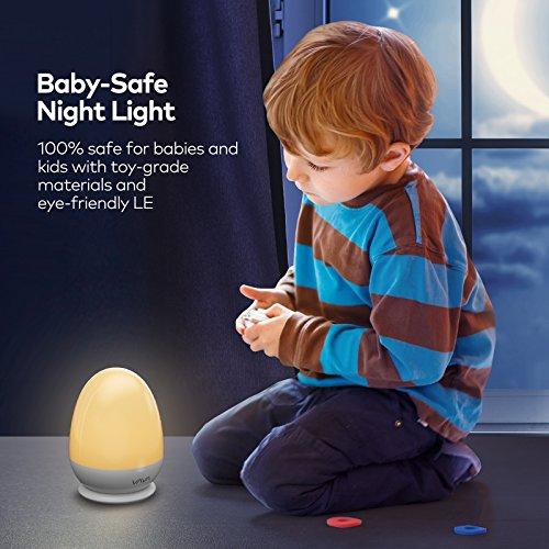 comprare on line Luce Notturna Bambini VAVA Lampada Notte per Bambini Impermeabile IP65, Abat-jour per Allattamento ( ABS+PP, 200 Ore di Funzionamento, Luminosità e Colore Regolabili, Modalità SOS, Controllo Touch, Timer) prezzo