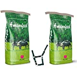 aminofeed 2 Sacchi da 20 kg per puledri e fattrici Piu 1 Omaggio Cavezza in NILON Mangime Ricco di aminoacidi vitamine e minerali per Tutte Le Fasi di Allevamento del Cavallo