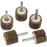 Sourcingmap a12032800ux0023 en métal 30 mm Tige roues à lamelles abrasives montées Brosse Bit (5 pièces)