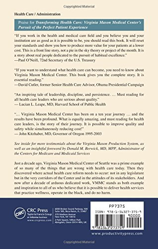 virginia mason medical center and the toyota production system essay Virginia mason medical center  on the virginia mason production system, a process for improving patient care modeled after the toyota production system.