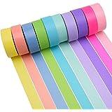 K-LIMIT 10 Set Washi Tape rollos de Washi Tape, cinta decorativa autoadhesivo, cinta de enmascarar, masking tape Scrapbooking DIY Washitape Scrapbooking DIY 5526