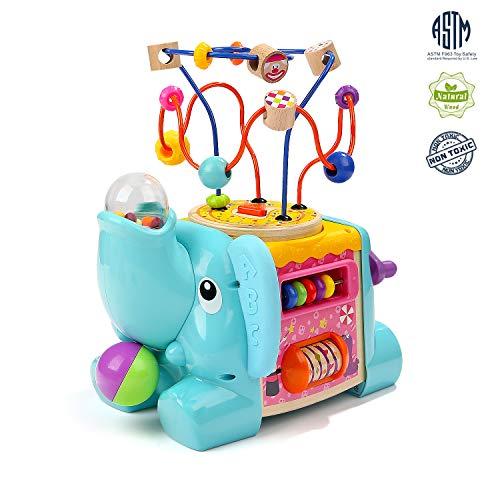TOP BRIGHT Jouet Cube Enfant 1 an,Jouet Educatif avec Jeu Labyrinthe de Perle pour Bébé, Jouet Cadeau pour Garçon et Fille de 1 an