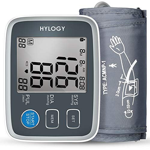 HYLOGY Tensiómetros de Brazo Memoria 2 * 90 gris