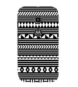Fiobs Designer Back Case Cover for Motorola Moto E2 :: Motorola Moto E Dual SIM (2nd Gen) :: Motorola Moto E 2nd Gen 3G XT1506 :: Motorola Moto E 2nd Gen 4G XT1521 ( ZigZag Africa Patterns Design Ethnic Diamonds)
