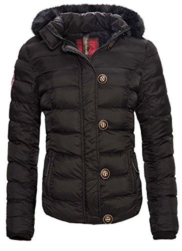 Navahoo Damen Winter Jacke Steppjacke Parka Winter Mantel Warm gefüttert B311