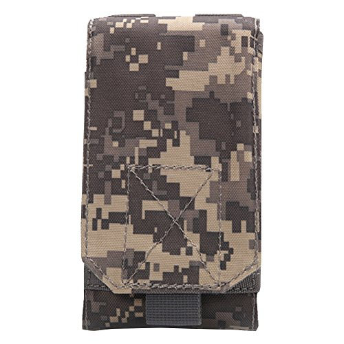 5,5Zoll Taktische Gürteltasche Molle Bauchtasche Hüfttasche Nylon 16X8X2,5 cm für Sport Outdoor Wandern Camping ACU