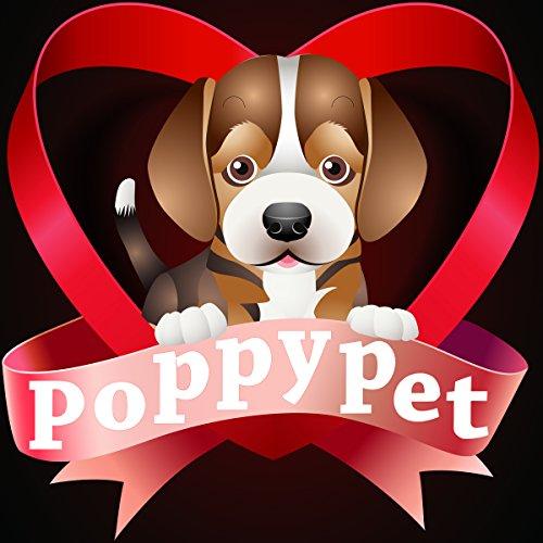Poppypet Halstücher für Haustier, Mode Design Halstuch für Hunde oder Katzen, Hunde Bandana Bequeme Stoffe Haustier Schal Punkte Muster 29cm- 48cm Verstellbare Schwarz - 6