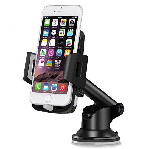 Support Telephone Voiture Ventouse Auto - TOPLUS Support Voiture Réglable, Rotation à 360°Support iPhone Voiture au Pare-brise et Tableau de bord GPS pour iPhone 7/7 Plus/6S/6s Plus/5S/5C/SE, Samsung Galaxy S7/S7 Edge/S6 Edge, Google Nexus, Xiaomi, Huawei, OnePlus, Nokia,Wiko, et d'autres Appareils en largeur de 5.5cm-9.5cm (2.2-3.7pouces)