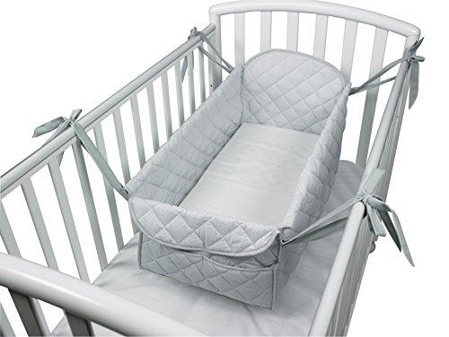 Babysanity riduttore 360° completo - miniletto neonato grigio