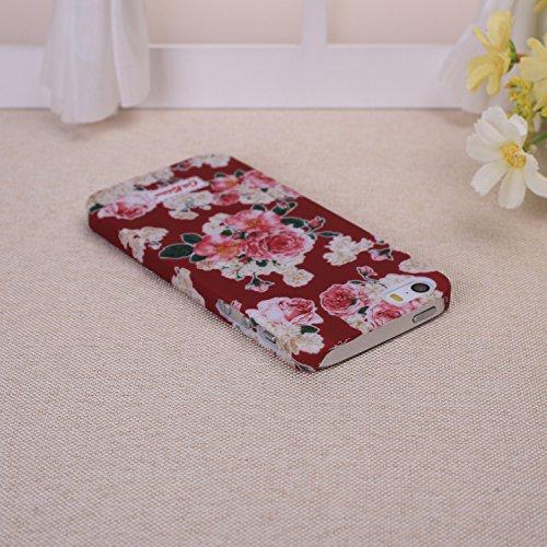 EKINHUI iPhone 6S Plus h¨¹lle, Art und Weise Neue kleine frische Weinlese -Blumenblumenmuster Design Kunststoff Hard Case f¨¹r das for iPhone 6S Plus(1) 5