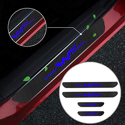 Cobear Einstiegsleiste Schutz Aufkleber Reflektierende Lackschutzfolie für Sharan Caddy Exclusive Amarok Einstiegsleisten Blau 4 Stück