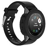Fundas Garmin Fenix 5S Plus Silicona, Zolimx Reloj de Protector de Pantalla Case Carcasa Delgada de Repuesto para Garmin Fenix 5S Plus Smartwatch (Negro)