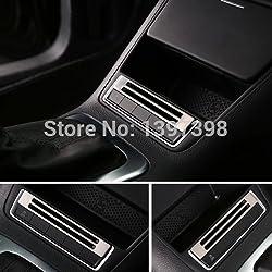 Soxid(TM) For VW Volkswagen tiguan 2010-2015 storage box button switch panel trim cover sticker stainless steel bezel auto accessories