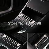 Soxid (TM) pour VW Volkswagen Tiguan 2010–2015Boîte de rangement Button Switch Panel Trim Housse Autocollant en acier inoxydable Cadre Auto Accessoires