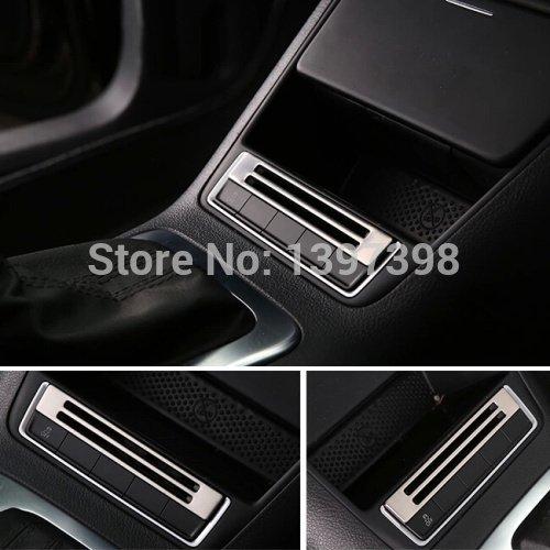 soxid (TM) per VW Volkswagen Tiguan 2010–2015Adesivo Cover Storage Box Pulsante Pannello in acciaio inox cornice accessori per auto