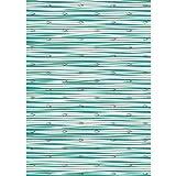 Ursus Designkarton Jesus Aqua, Fische silber glänzend, türkis, 200g/m², Motiv 2, Din A4, 1 Blatt
