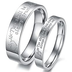 19 Likes Cupid Heart Silver Metal 2 Pieces Couples Rings For Men And Women