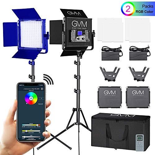GVM RGB LED Videoleuchte Studiolicht und Ständer