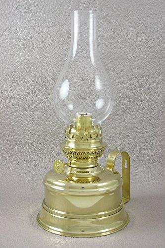 Lampe à pétrole Gaudard - Laiton poli - Hauteur 320 mm