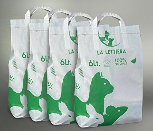 24 Litri - Lettiera per gatti, roditori, rettili. Ecologica, lunga durata.
