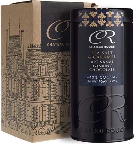 Karamell Gesalzen Luxus Trinkschokolade, Für Dunkle Reine Schokolade, Handgemacht Von GMO-freien Anbau Und Reinem Valrhona Kakaopulver, 170g Geschenkdose