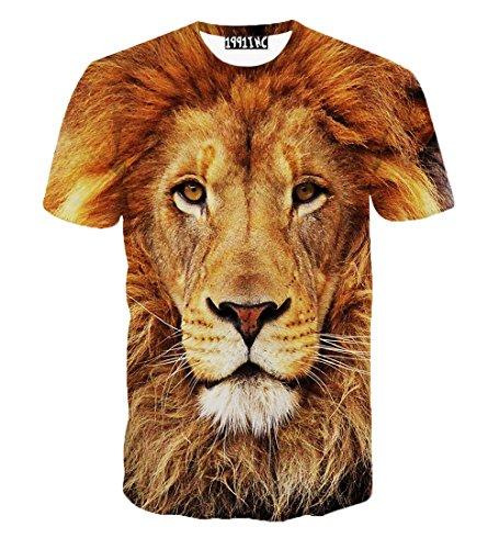 YonBii Lässige Slim Fit Unisex Kurze 3D Print Sommer T-Shirt Grafik T-Shirt Hüllen Tops (Slim-fit-grafik)