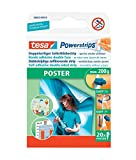 tesa 58003-00078-02 UK Powerstrips Poster Double-Sided Removable Strips - Pack of 20