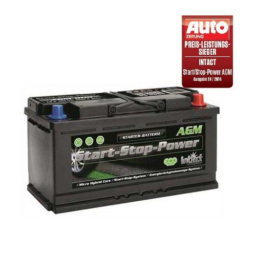 Intact AGM 900 Start Stop Power Batteria per auto 12 V, 90 Ah, 900 A, ottimo rapporto qualità/prezzo, test GTÜ 2014
