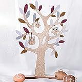 Valery Madelyn Decorazione dell'albero di Pasqua 38 cm Primavera in Legno Gufo di Pasqua con Decorazione Gufo Illustrazione per Decorazione del Giardino Marrone Desktop Imballaggio Multiplo