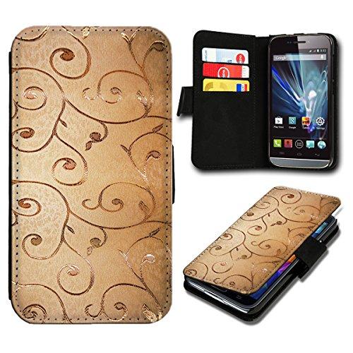 Book Style LG L Fino Premium PU-Leder Tasche Flip Brieftasche Handy Hülle mit Kartenfächer für LG L Fino - Design Flip SV124