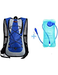 Monvecle gratuit de l'eau d'hydratation Sac à dos avec 2L d'eau vessie Parfait pour la course à pied Cyclisme randonnée escalade Pouch et le ski