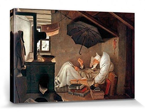 1art1 54720 Carl Spitzweg - Der Arme Poet Poster Leinwandbild Auf Keilrahmen 120 x 80 cm