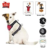 SlowTon Hundegeschirr, Haustier Weste Harness für Hunde Sicherheit im Auto Verstellbarer Hals und Brustgurt, Breathable Soft Fabric Multifunktionsweste mit Schnellverschluss Reisen täglichen Gebrauch