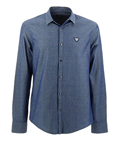 armani-jeans-mens-fantasia-blue-shirt-xl