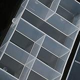 Baoblaze 7 Fächer Aufbewahrungsbox Klar Sortierboxen Plastik Aufbewahrungsbox Schmuckkasten...