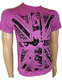 Firetrap T shirt in Cerise, Acid and Pool Blue