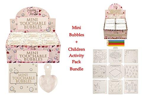 Hochzeits-Set für Kinder–12x Kinderspiele und 48x Mini-Seifenblasen