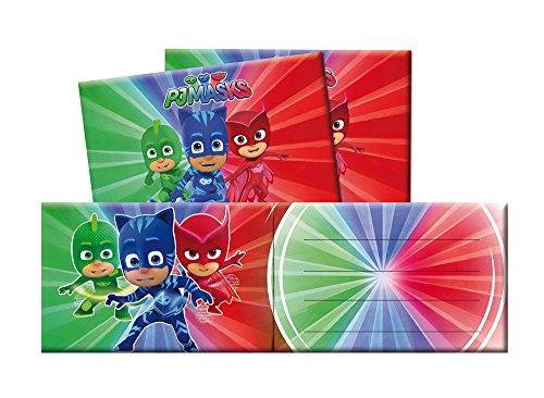PJ Masks Invitaciones para decoración de Fiestas (Verbetena 016001333