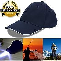 5LED gorra de béisbol gorro con luz para pesca y Huting, azul