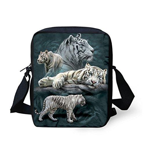HUGSIDEA , Damen Tote-Tasche S Weiß tiger S