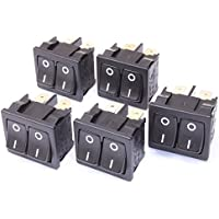 5 Stück Doppel-Wippschalter 10(4A)-250VAC
