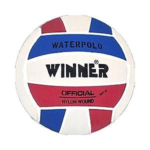 Mega Sport - Palla Winner Water polo Colore: Rosso/Bianco/Blu. Misura 4.