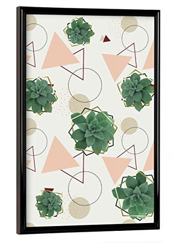 artboxONE Poster mit schwarzem Rahmen 60x40 cm Lovely Succulents von Künstler DesigndN - Poster mit Kunststoffrahmen
