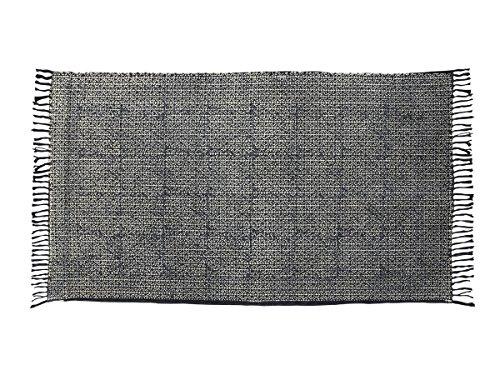 Tessuto a mano morbido cotone grande piano tappeto con fine print ornamentali 60 x 36 (Cotone Tessuto Piano Tappeto)