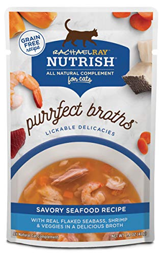 Rachael Ray Nutrish Purrfect Broths - Savory Seafood Recipe, 1.4-oz Cup (24 Pack) (Purrfect Cat Food)